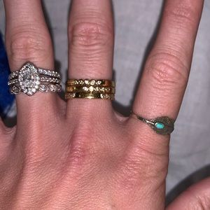 Kate Spade ♠️ stackable gold rings
